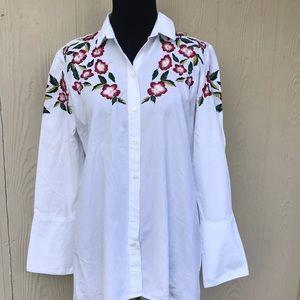 ZARA  asymmetric  blouse